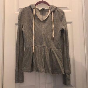 Anthropologie gray sweatshirt size xs